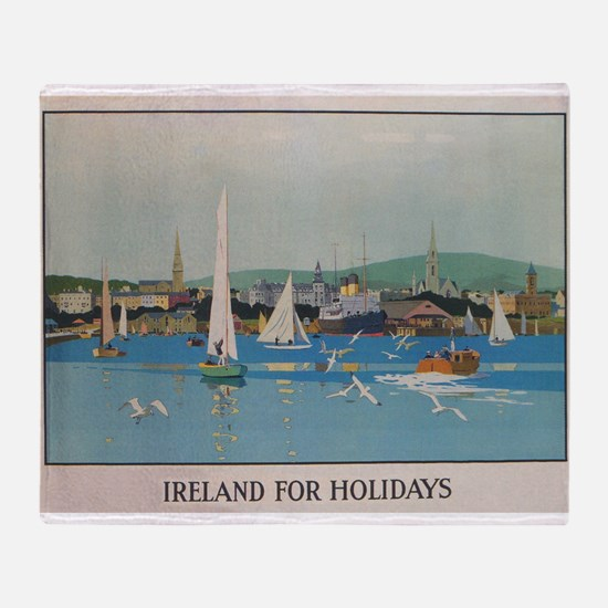 Ireland for the Holidays, Sailboats; Throw Blanket