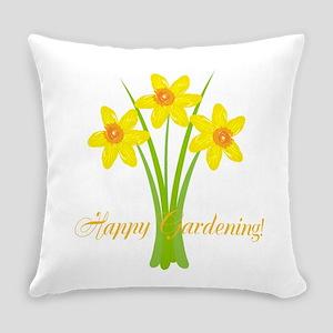 Watercolor Daffodils Gardener Everyday Pillow