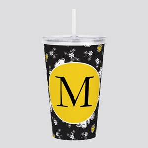 Snoopy Black and Yello Acrylic Double-wall Tumbler