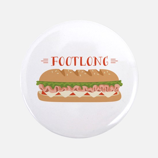"""Foot Long Sub 3.5"""" Button (100 pack)"""
