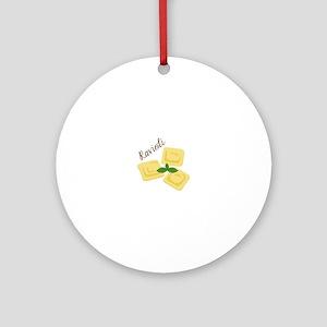 Ravioli Round Ornament