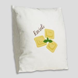 Ravioli Burlap Throw Pillow