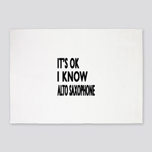 It Is Ok I Know Alto Saxophone 5'x7'Area Rug