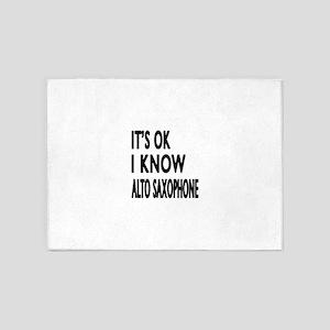 It Is Ok I Know Alto Saxophone 5'x7'Area Rug