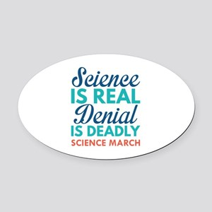 Science Is Real Oval Car Magnet
