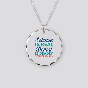 Science Is Real Necklace Circle Charm