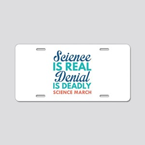 Science Is Real Aluminum License Plate