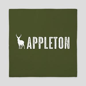 Deer: Appleton, Wisconsin Queen Duvet