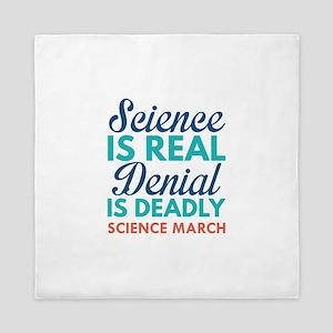 Science Is Real Queen Duvet