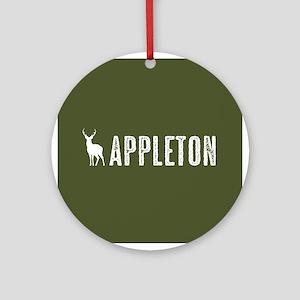 Deer: Appleton, Wisconsin Round Ornament