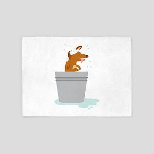 Dog Bath 5'x7'Area Rug