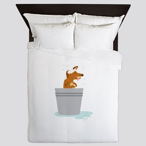 Dog Bath Queen Duvet