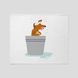 Dog Bath Throw Blanket