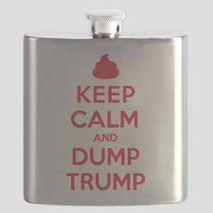 Keep Calm Dump Trump Flask