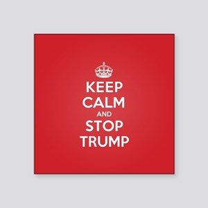 Keep Calm Stop Trump Sticker