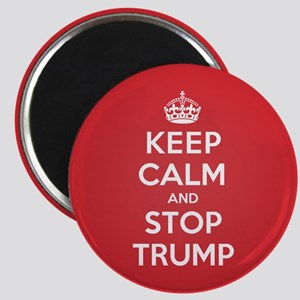 Keep Calm Stop Trump Magnets