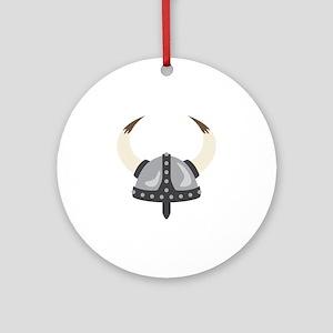 Viking Helmet Round Ornament