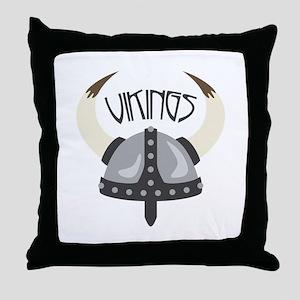Vikings Helmet Throw Pillow