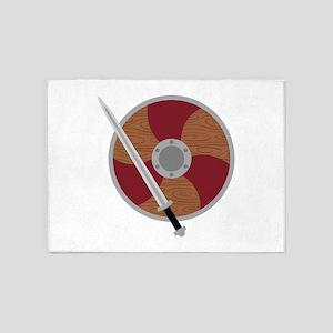 Viking Shield & Sword 5'x7'Area Rug