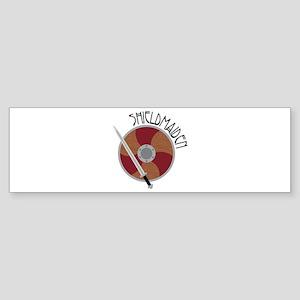 Shield Maiden Bumper Sticker
