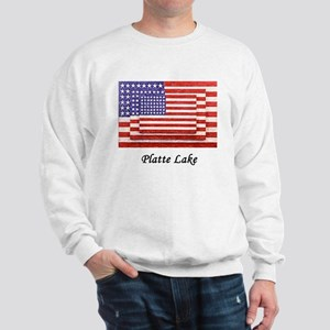 3 Flags July 4th Sweatshirt