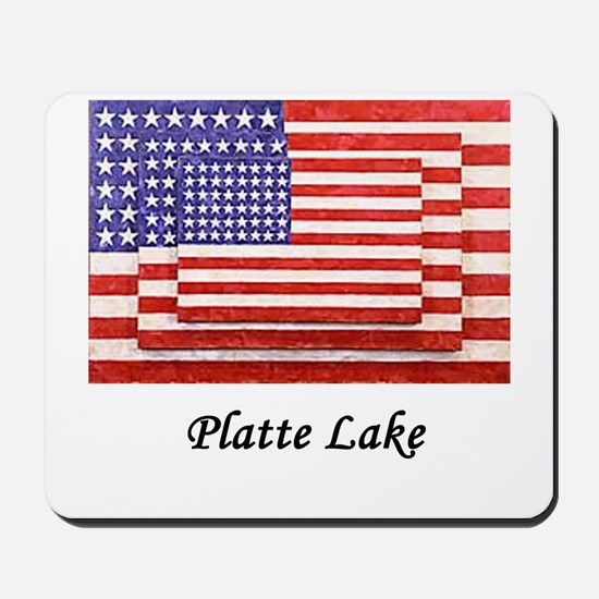 3 Flags July 4th Mousepad