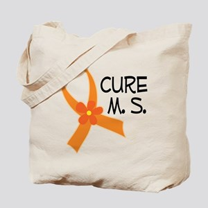 Cure MS Multiple Sclerosis Ribbon Tote Bag