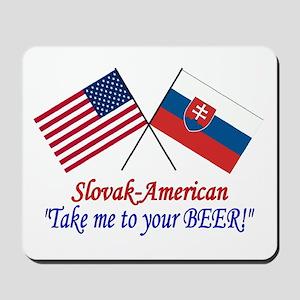 Slovak/American 1 Mousepad