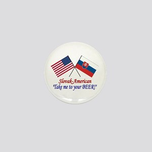 Slovak/American 1 Mini Button