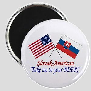Slovak/American 1 Magnet