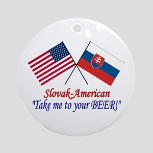 Slovak/American 1 Ornament (Round)