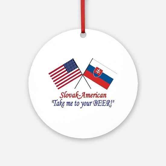 Slovak/American 1 Ornament (Round)