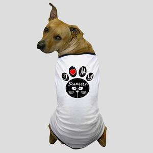 I love my Siamese Dog T-Shirt
