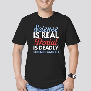 Science Is Real Men's Fitted T-Shirt (dark)