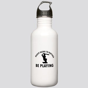 I'd Rather Be Playing Stainless Water Bottle 1.0L