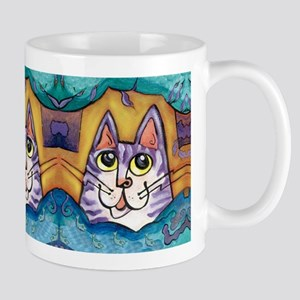 Fun Happy Purple Cat Mug