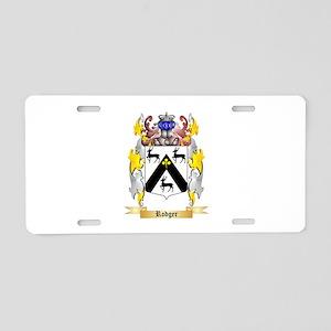 Rodger Aluminum License Plate
