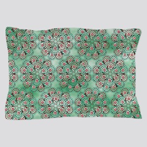 Punched Floral Pillow Case