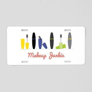 Makeup Junkie Aluminum License Plate
