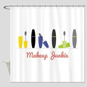 Makeup Junkie Shower Curtain