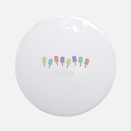 Chillin Popsicles Round Ornament