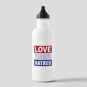 Love Trumps Hatred Water Bottle