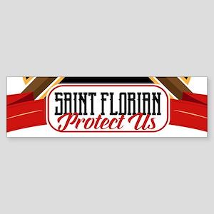 Saint Florian Shield Bumper Sticker