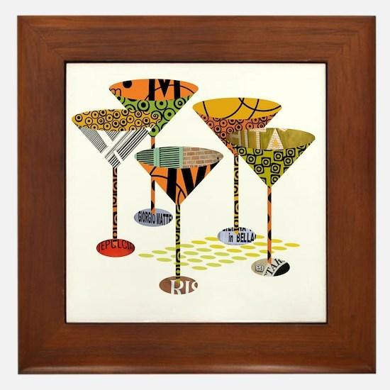 Funny Cocktail Framed Tile