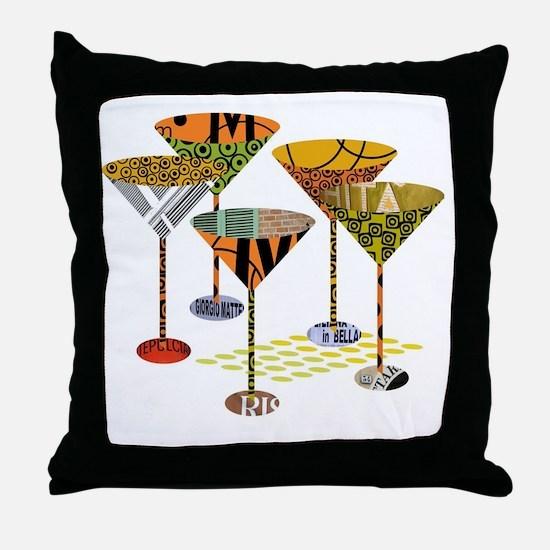Cute Martini Throw Pillow