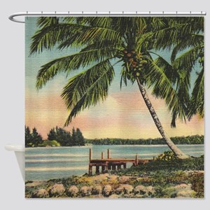 Palm Trees Vintage Shower Curtain