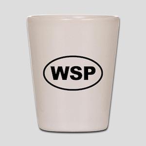 WSP Black Euro Oval Shot Glass