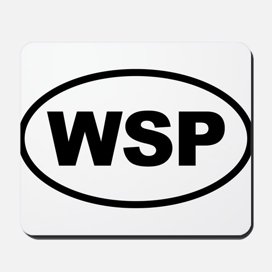 WSP Black Euro Oval Mousepad