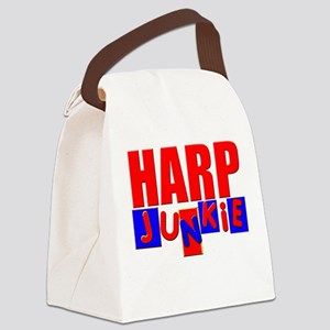 Funny Harp Canvas Lunch Bag
