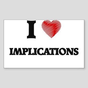 I Love Implications Sticker